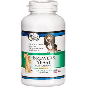 3. Four Paws Brewers Yeast Garlic Flavor Tablets, 500 count